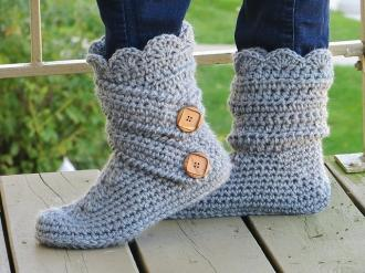 Two Pairs of Cute Slippers from Crochet Dreamz-slippers3-jpg