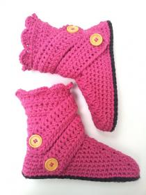 Two Pairs of Cute Slippers from Crochet Dreamz-slippers4-jpg