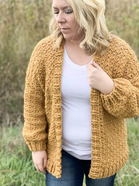 Nearly Seamless Cardigan for Women, XS-5XL-cardi3-jpg