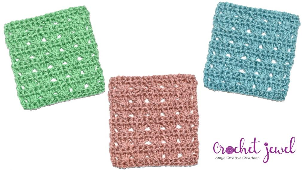 How to Crochet Crossed Double Crochet Coaster, Dishcloth, or Placemat Tutorial-scf-jpg