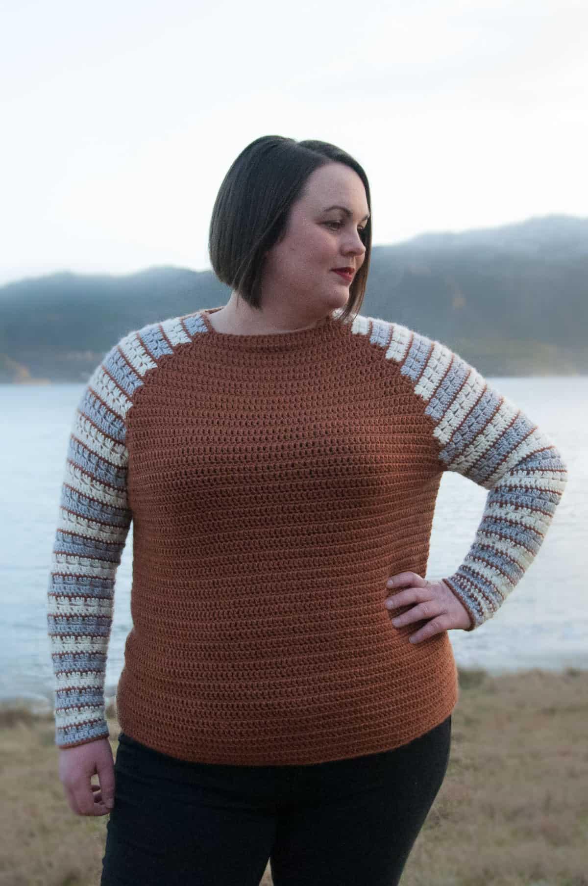 The Sleeves Raglan Pullover for Women, XS-5XL-pull2-jpg