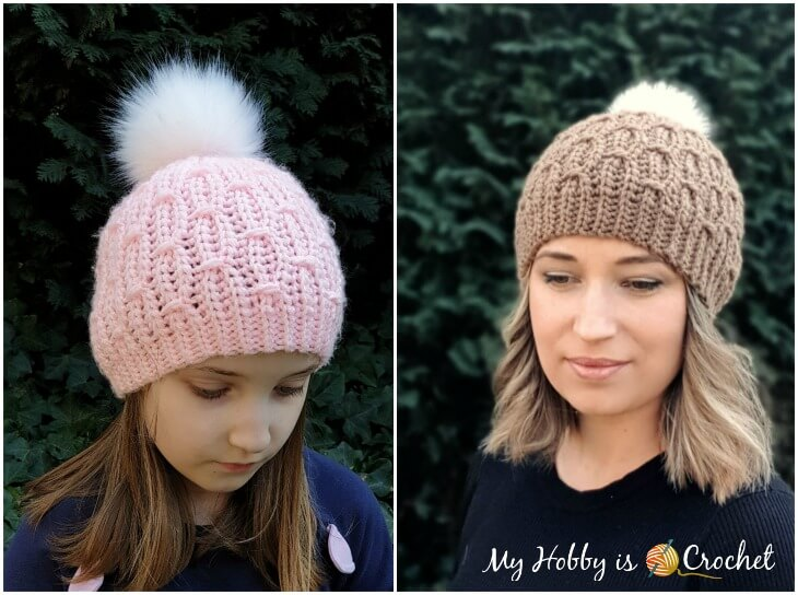 Mock Cable Hat and Cowl for Women and Children-hat1-jpg