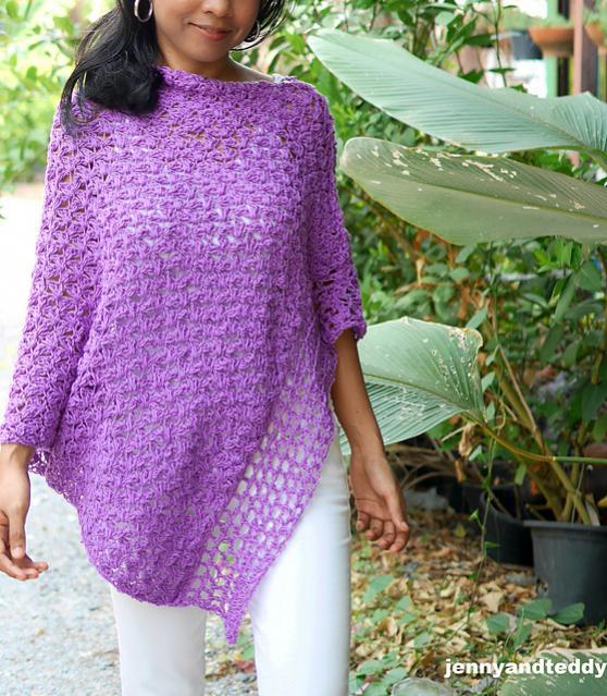 Purple Poncho Wrap for Women, S-4XL-wrap1-jpg