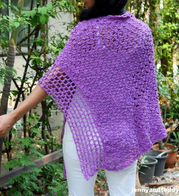 Purple Poncho Wrap for Women, S-4XL-wrap2-jpg