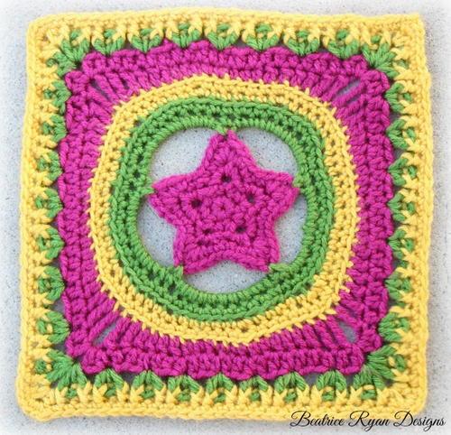 Shining Star Granny Square Free Crochet Pattern (English)-shining-star-granny-square-free-crochet-pattern-jpg
