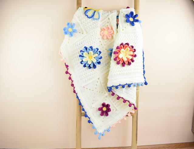 Blooming Spring Blanket and Butterfly Applique-bloom1-jpg