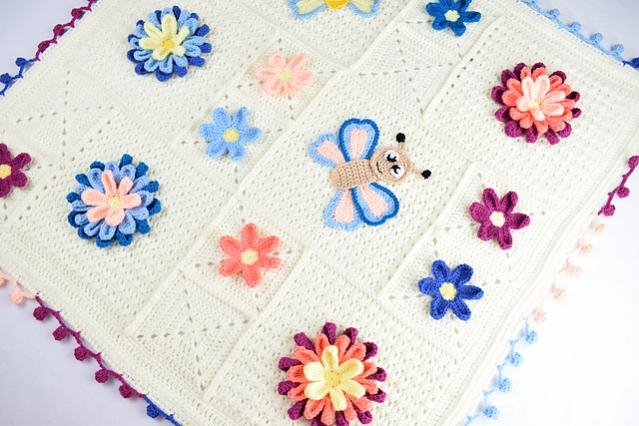 Blooming Spring Blanket and Butterfly Applique-bloom3-jpg