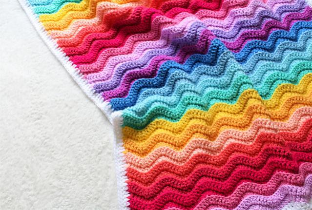 Chunky Rainbow Ripple Baby Blanket-baby1-jpg