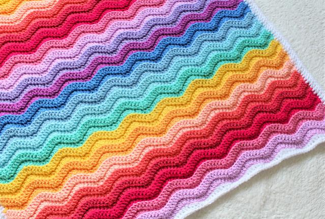 Chunky Rainbow Ripple Baby Blanket-baby2-jpg