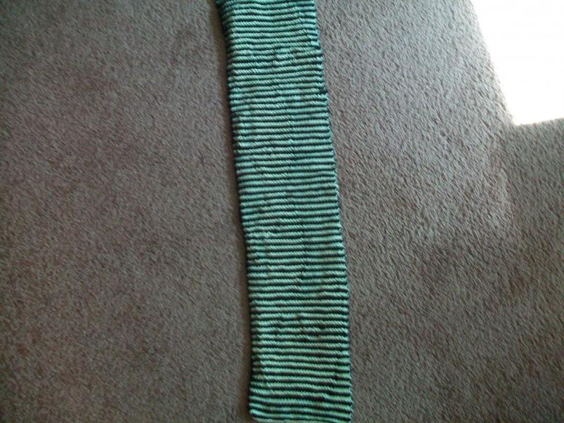 I finished knitting the 'duckie illusion scarf'-100_6989-jpg