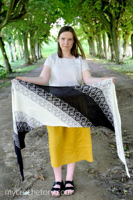 Monochrome Bias Wrap for Women-b1-jpg