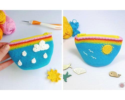 Rainy-Sunny Coin Purse Free Crochet Pattern (English)-rainy-sunny-coin-purse-free-crochet-pattern-jpg