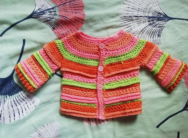 Two Pretty Baby Sets (hat and cardigan) 0-3 mos-c2-jpg