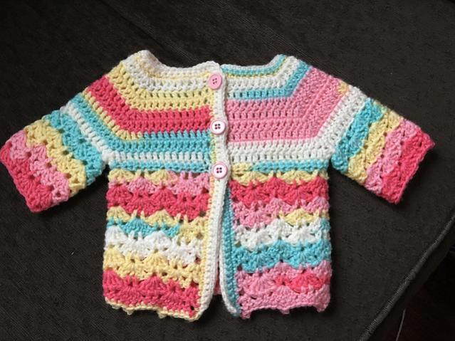 Two Pretty Baby Sets (hat and cardigan) 0-3 mos-c4-jpg