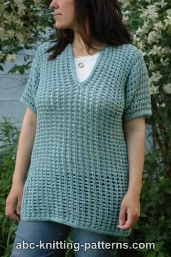 Subtle Mesh Summer Sweater for Women, S-2X, knit-e1-jpg