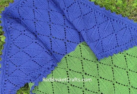 Diamond Leaf Shawl-e1-jpg