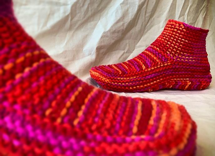 Knitted Slippers for Children and Adults-d1-jpg
