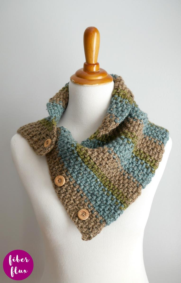 Rustic Tweed Button Cowl for Adults-a1-jpg