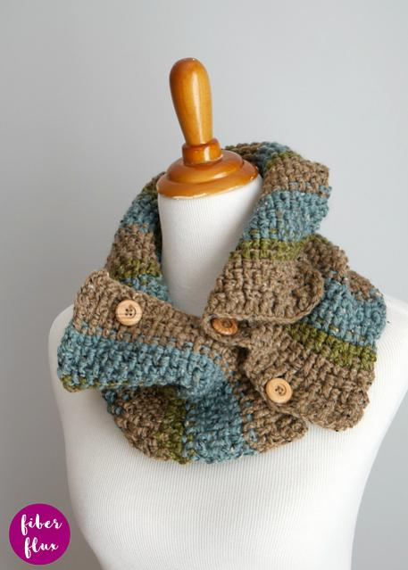 Rustic Tweed Button Cowl for Adults-a3-jpg