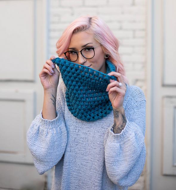 Perfectly Puff Beanie and Cowl Set for Women-c3-jpg