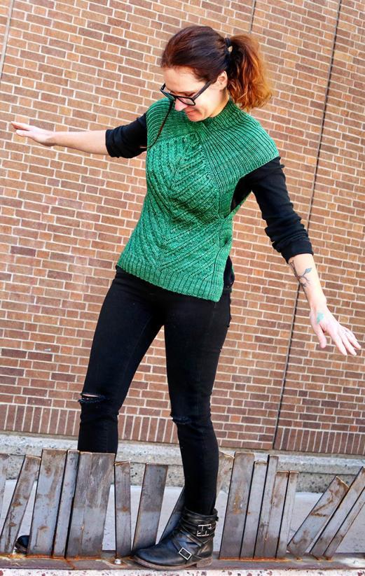 Open Road Vest fpr Women, XS-5X , knit-d1-jpg