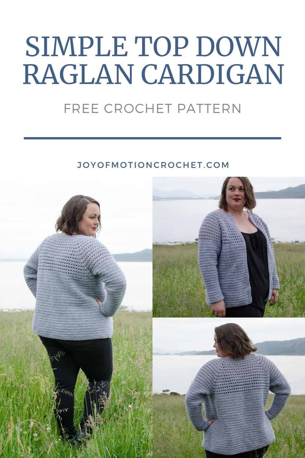 Simple Top Down Raglan Cardigan for Women, XS-5XL-b1-jpg