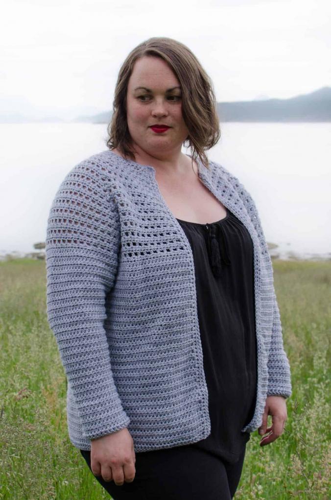 Simple Top Down Raglan Cardigan for Women, XS-5XL-b2-jpg