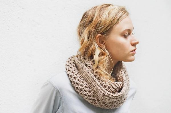 Honey Stitch Cowl for Women, knit-f2-jpg