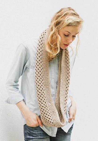 Honey Stitch Cowl for Women, knit-f3-jpg