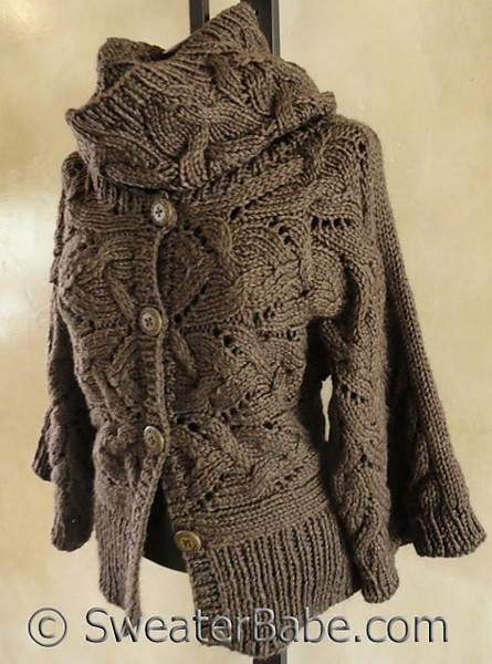 Sophisticated Cable and Lace Cowl for Women, knit-e3-jpg