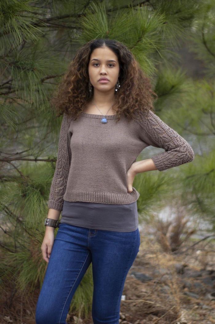 """Beechnut Pullover for Women, 32  1/2"""" to 64 1/2"""", knit-e4-jpg"""