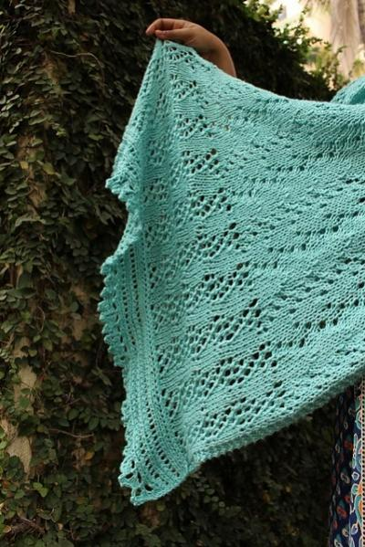 A Time of Rain Shawl, knit-e3-jpg