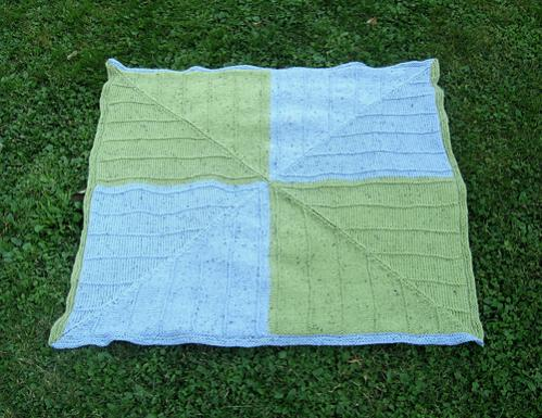 Four Corners Baby Blanket, knit-d5-jpg