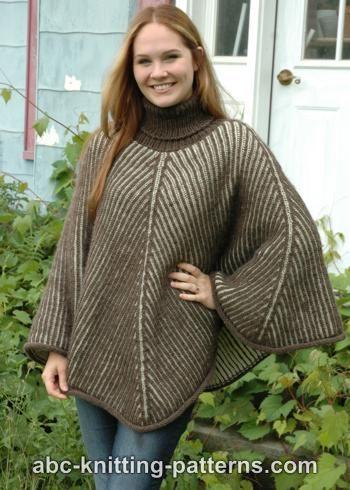 Reversible Brioche Poncho for Women, S-3X, knit-r1-jpg