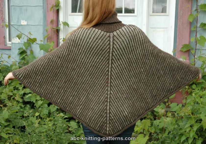 Reversible Brioche Poncho for Women, S-3X, knit-r2-jpg
