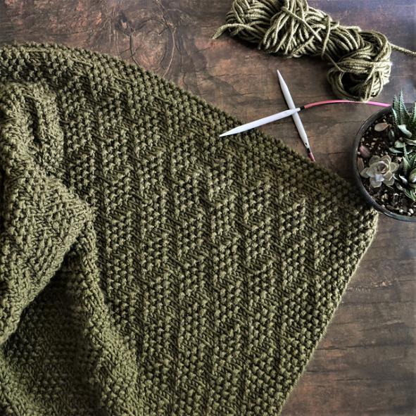 Diamond of Virgo Blanket, knit-a1-jpg