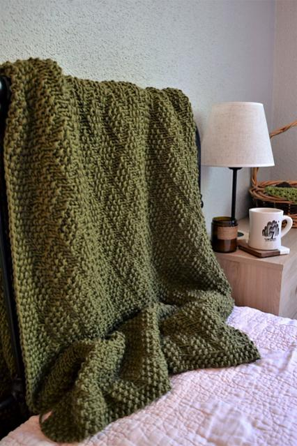 Diamond of Virgo Blanket, knit-a2-jpg
