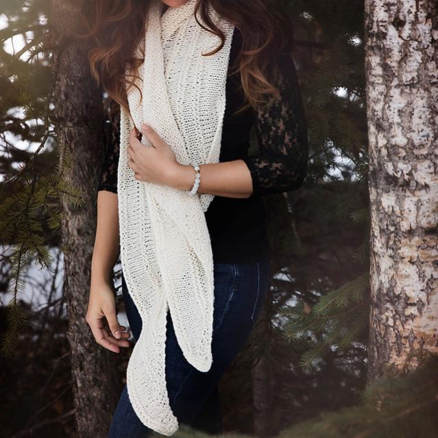 Serenity Scarf for Women, knit-d2-jpg