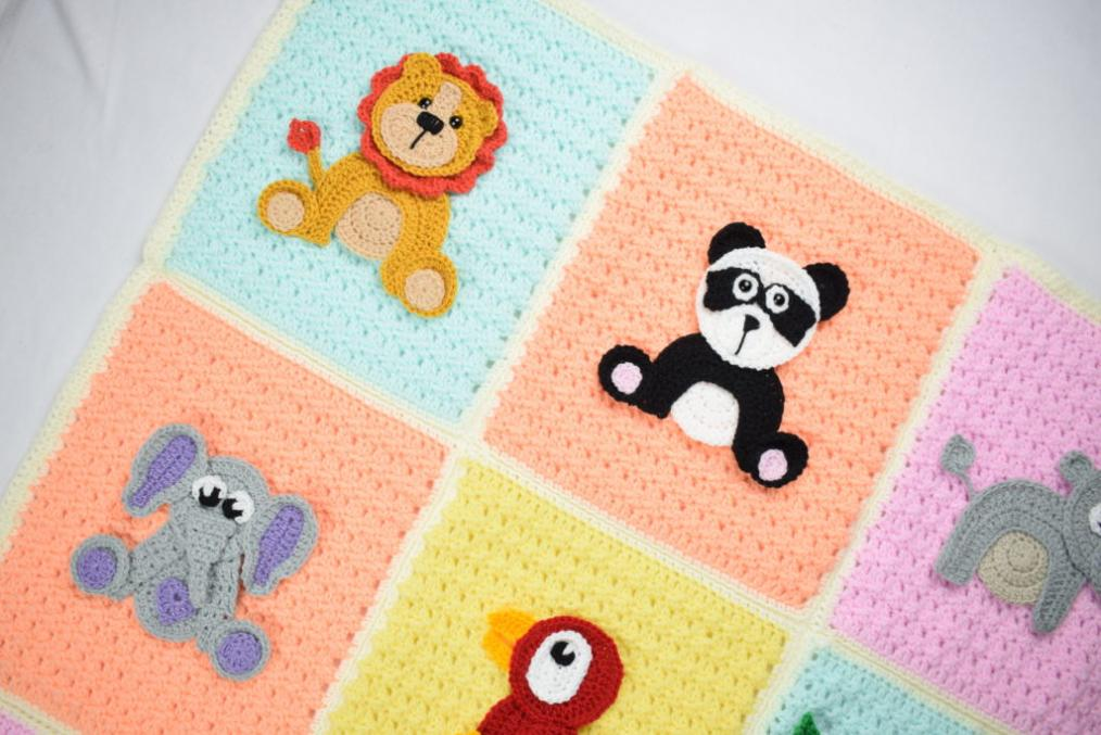 Jungle Animal Baby Blanket-a10-jpg