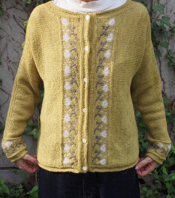 Hakobe Cardigan for Women, XS-5X, knit-a1-jpg