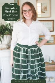 "Your Everyday Plaid Skirt for Women, waist 24""-50""-w1-jpg"