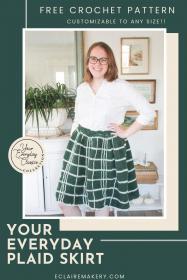 "Your Everyday Plaid Skirt for Women, waist 24""-50""-w2-jpg"
