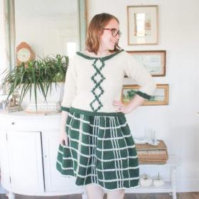 "Your Everyday Plaid Skirt for Women, waist 24""-50""-w3-jpg"