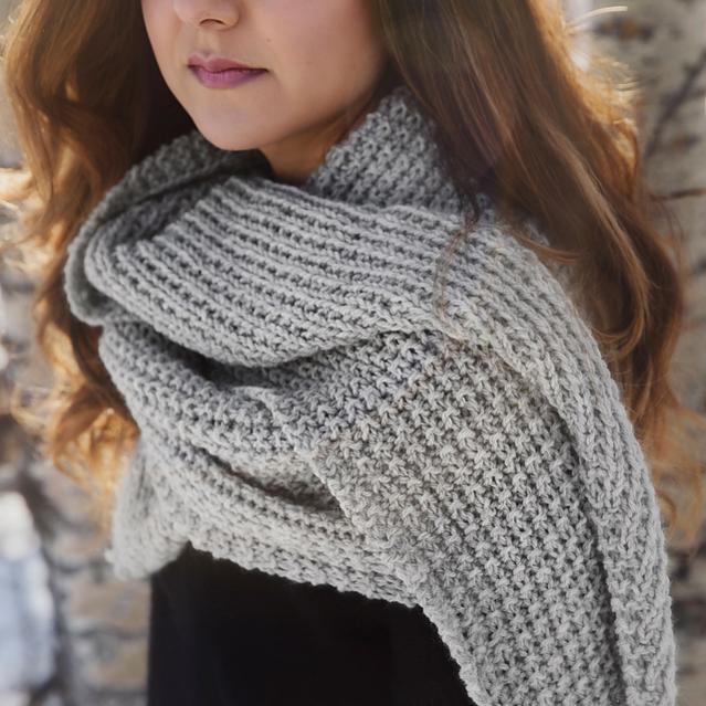 Classic Knit Blanket Scarf, knit-a1-jpg