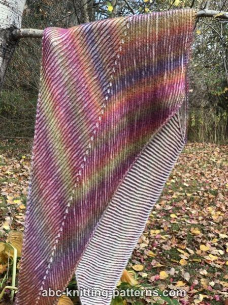 Sunshine Arrow Brioche Shawl, knit-a2-jpg