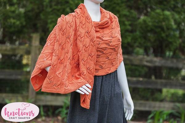 Lazy Leaf Wrap for Women, knit-d1-jpg