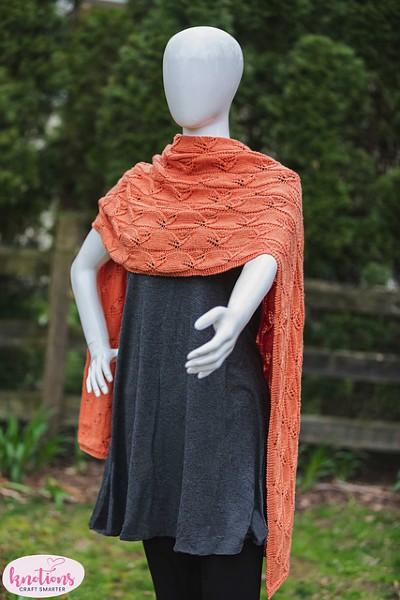 Lazy Leaf Wrap for Women, knit-d2-jpg