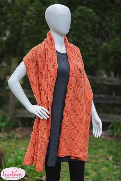 Lazy Leaf Wrap for Women, knit-d3-jpg