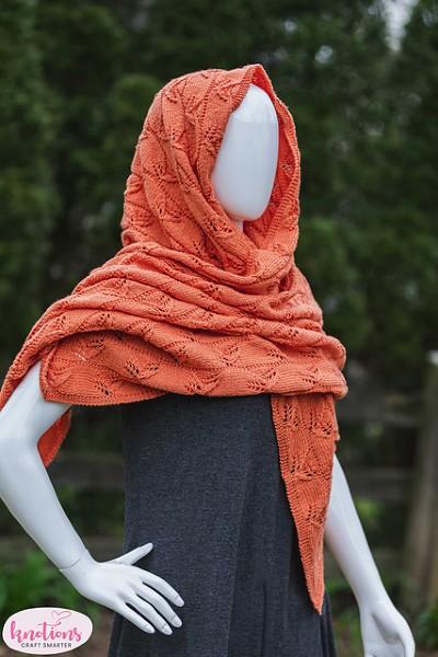 Lazy Leaf Wrap for Women, knit-d4-jpg