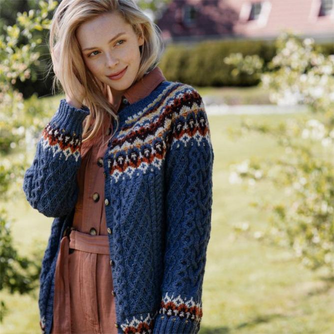 "Karheikko Cardigan for Women,  39 1/4 "" to 48 1/4,"" knit-a1-jpg"